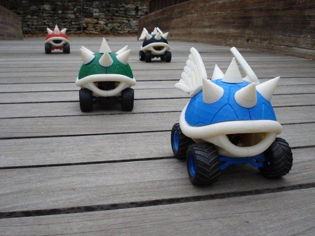 Mario Kart turtle shell