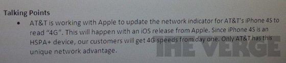 iPhone 4S 4G indicator