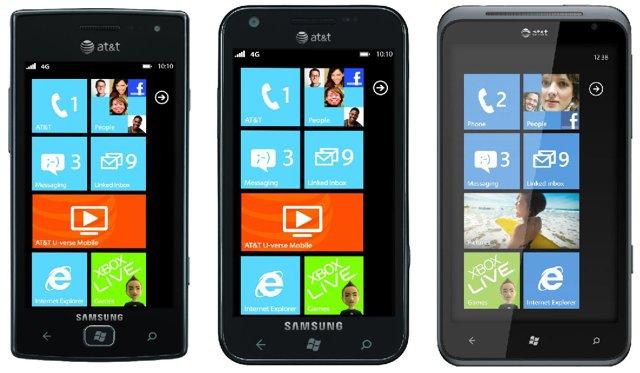 Samsung Focus Flash, Samsung Focus S, HTC TITAN
