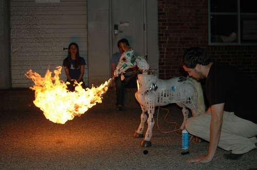 Fire-breathing pony