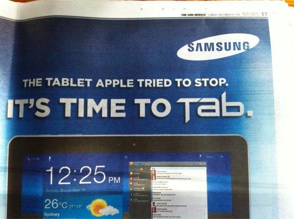 Galaxy Tab advert