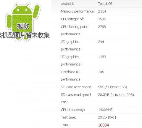 Toshiba Tegra 3 tablet