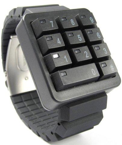 Click Keypad LED watch