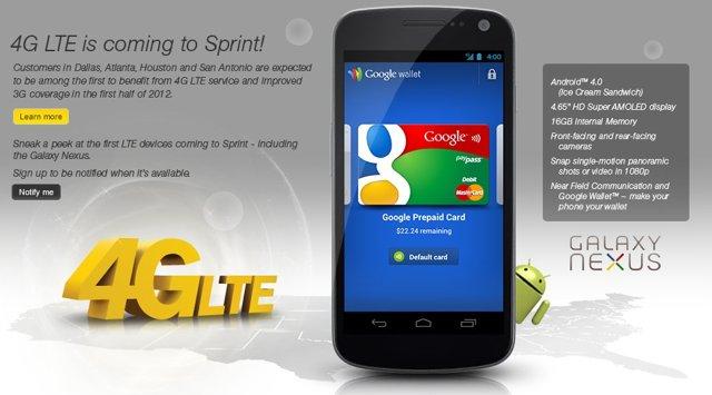Sprint Galaxy Nexus LTE