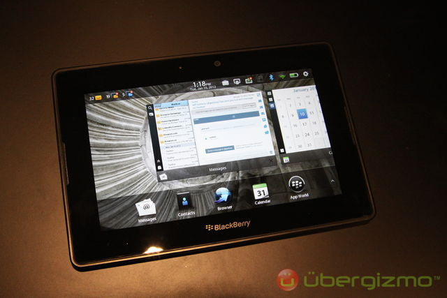 PlayBook 2.0 new homescreen