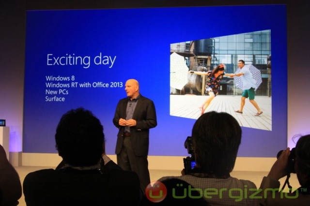 Microsoft Windows 8 launch NYC