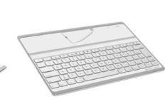 Elecom Bluetooth keyboard does the wireless handset jig, too