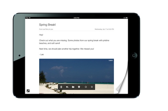 Yahoo-Mail-for-iPad-landscape-page-curl