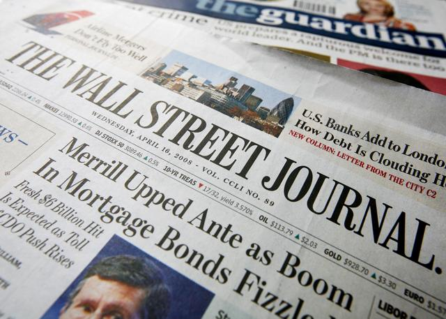 Wall Street Journal Goes On Sale In London For The First Time