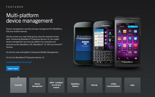 BlackBerry Secure Work Space Launches On iOS, Android
