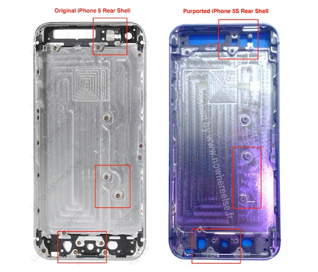 iPhone 5S vs iPhone 5 Hardware Compared In New Photos [Rumor ...