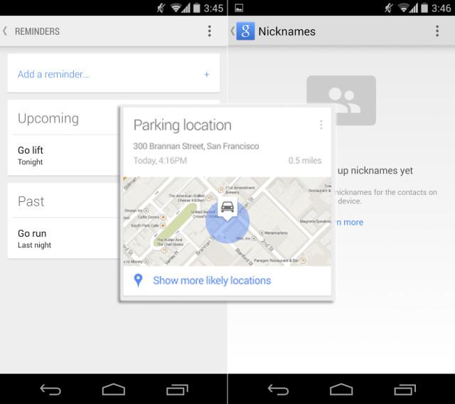 google parking reminder