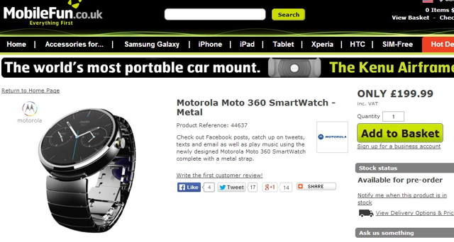 moto 360 price