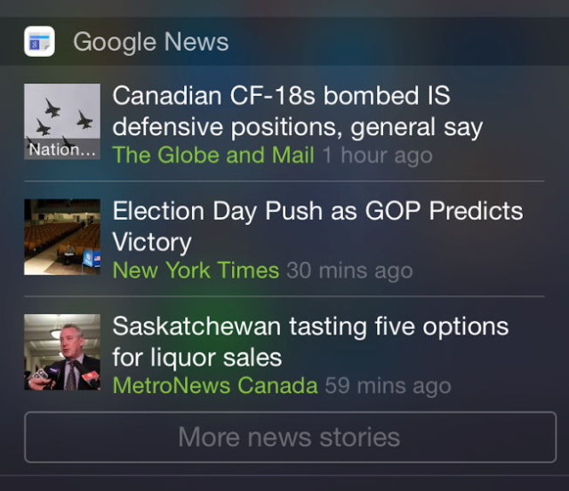 Google News & Weather For iOS Updated With News Widget