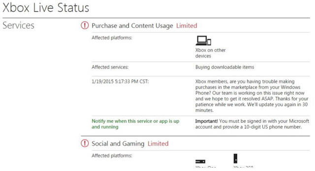 Xbox Live Experiencing Limited Connectivity | Ubergizmo