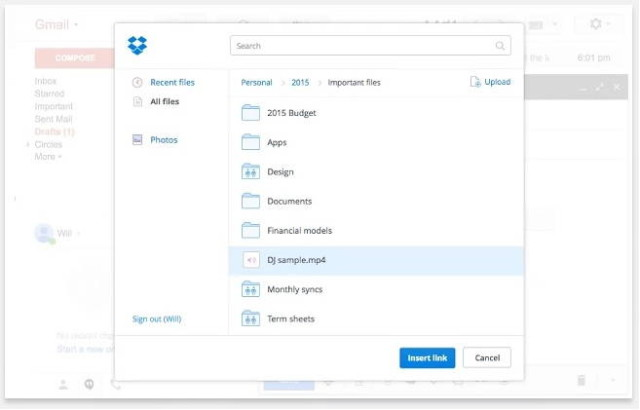 Dropbox Extension For Chrome Lets You Attach Links Quickly