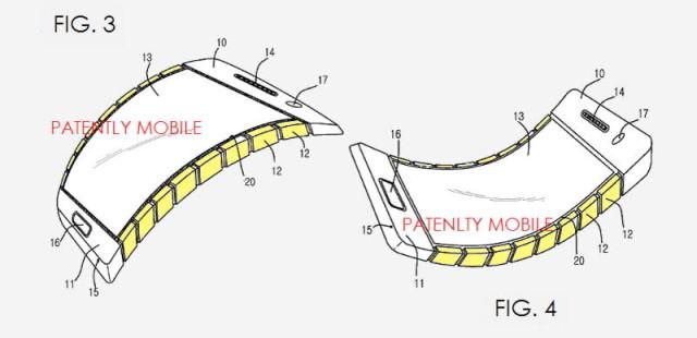 samsung flexible patent