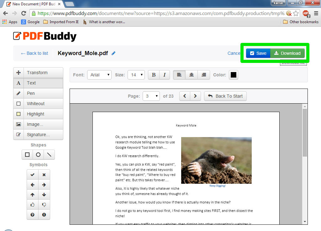 how to edit and save a pdf file for free