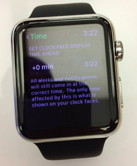 apple watch time