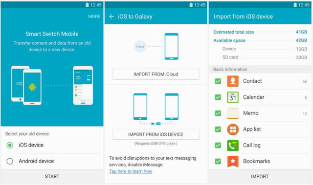Smart switch app android to iphone