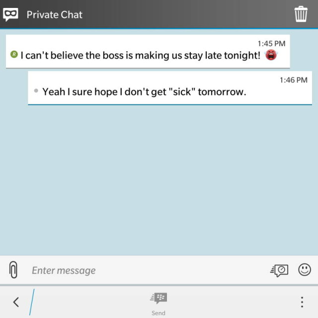 bbm private chat