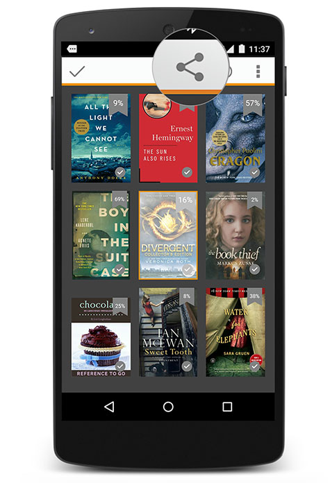 Kindle books new sharing