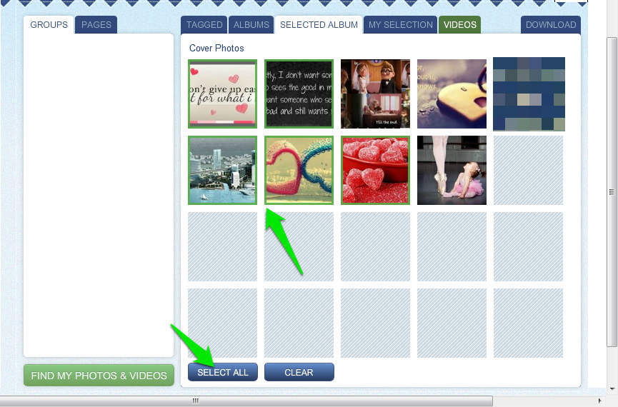 How to download all tagged photos from facebook