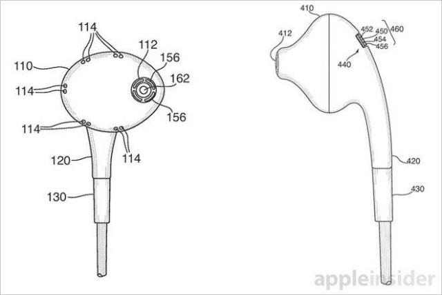 apple earphones patent