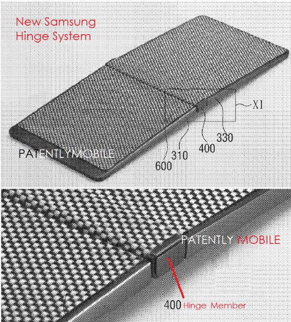 samsung patent hinge
