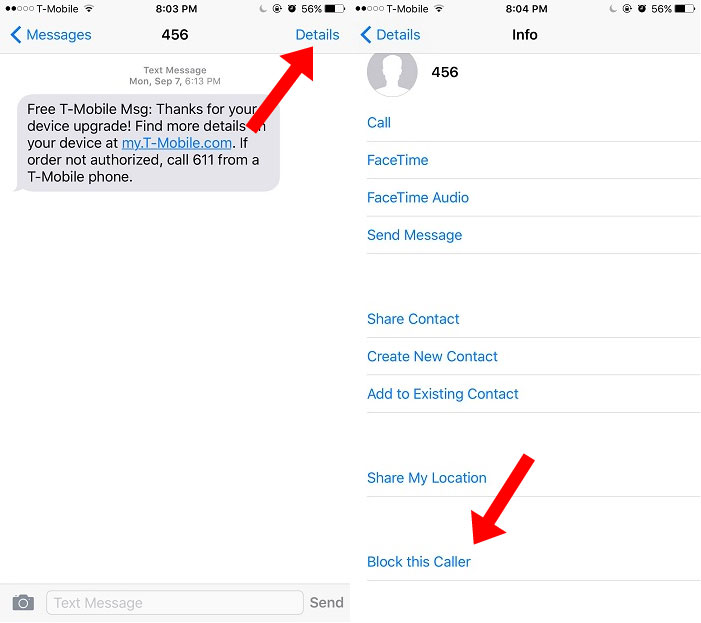 How To Block Text Messages On iPhone | Ubergizmo