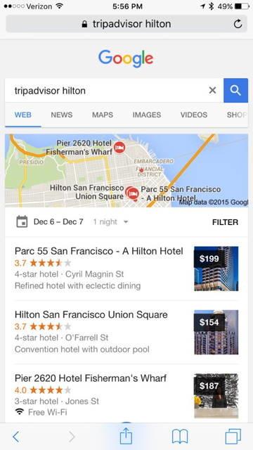 google tripadvisor