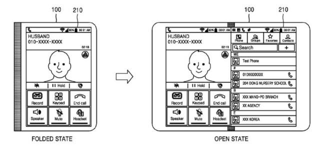 samsung foldable patent