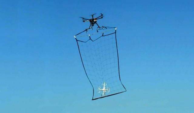 drone catching net