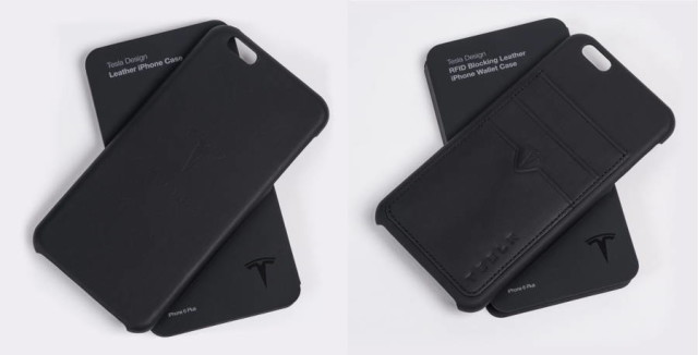 tesla iphone leather