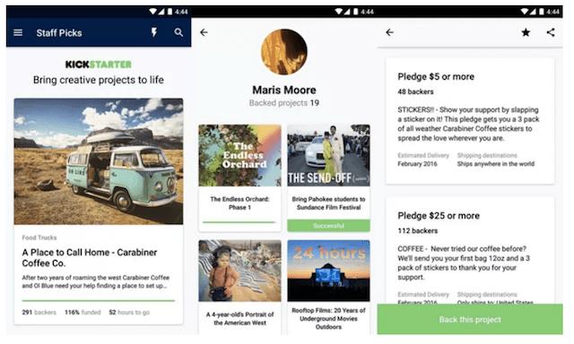 kickstarter-android-app