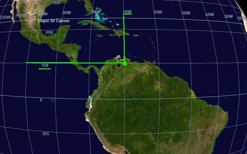На изображении выделено место в Южной Америке.