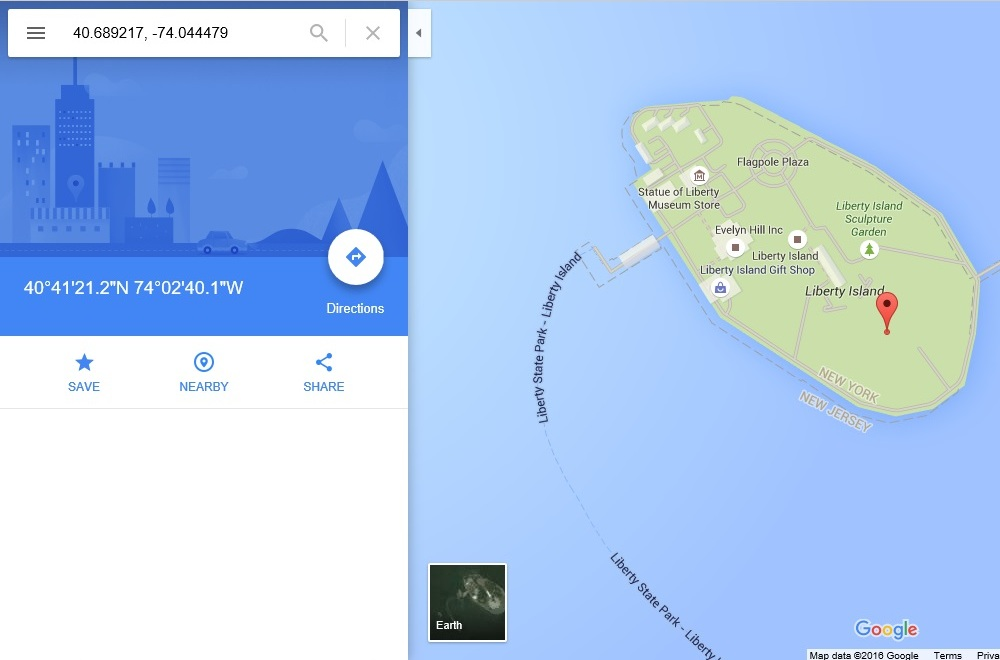 google maps результат поиска координат