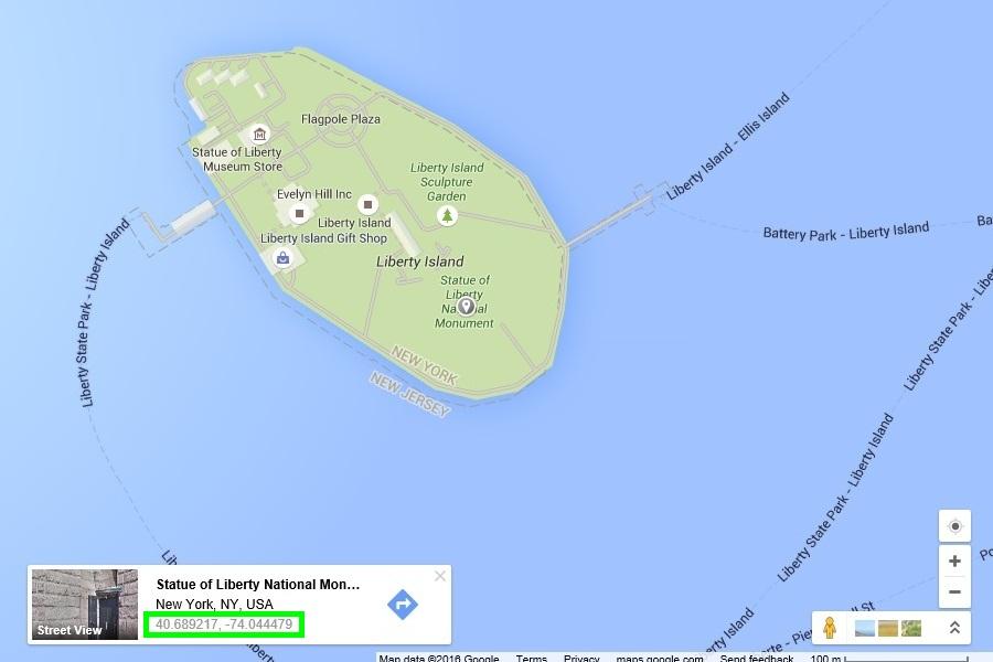 координаты google maps