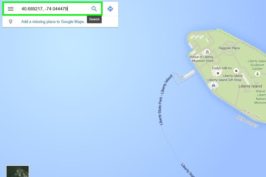 google maps введите координаты