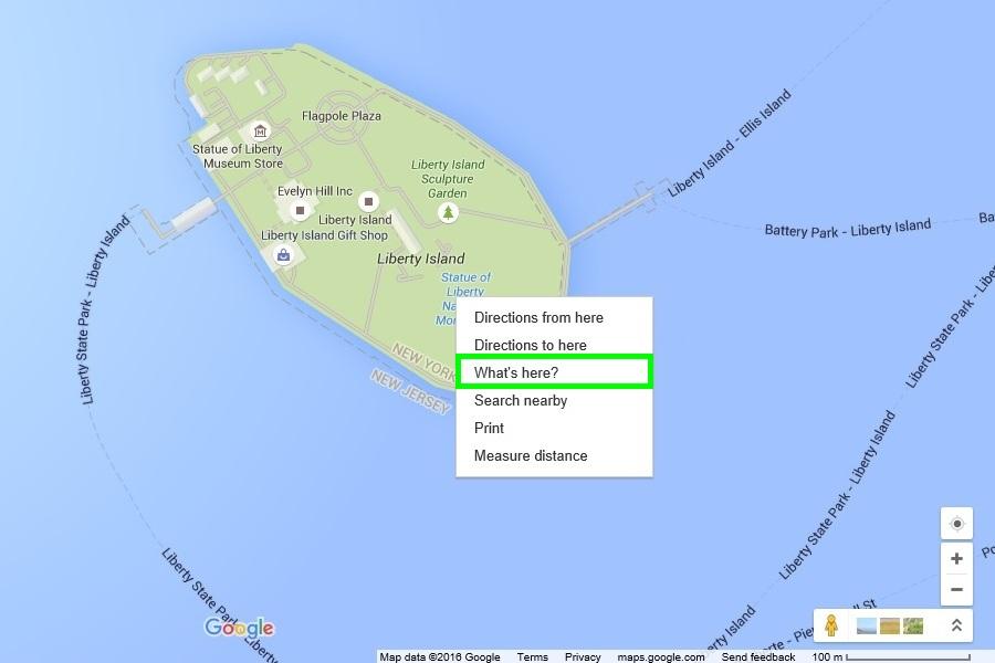 меню карт Google