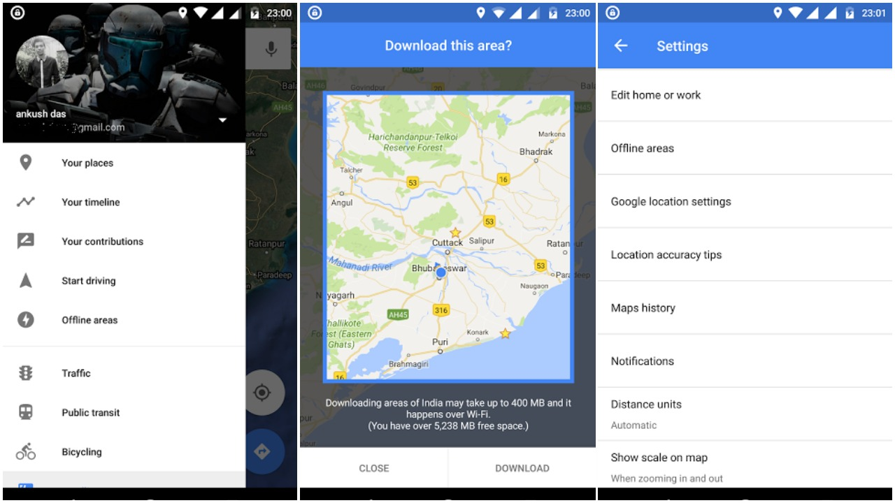 google maps for android