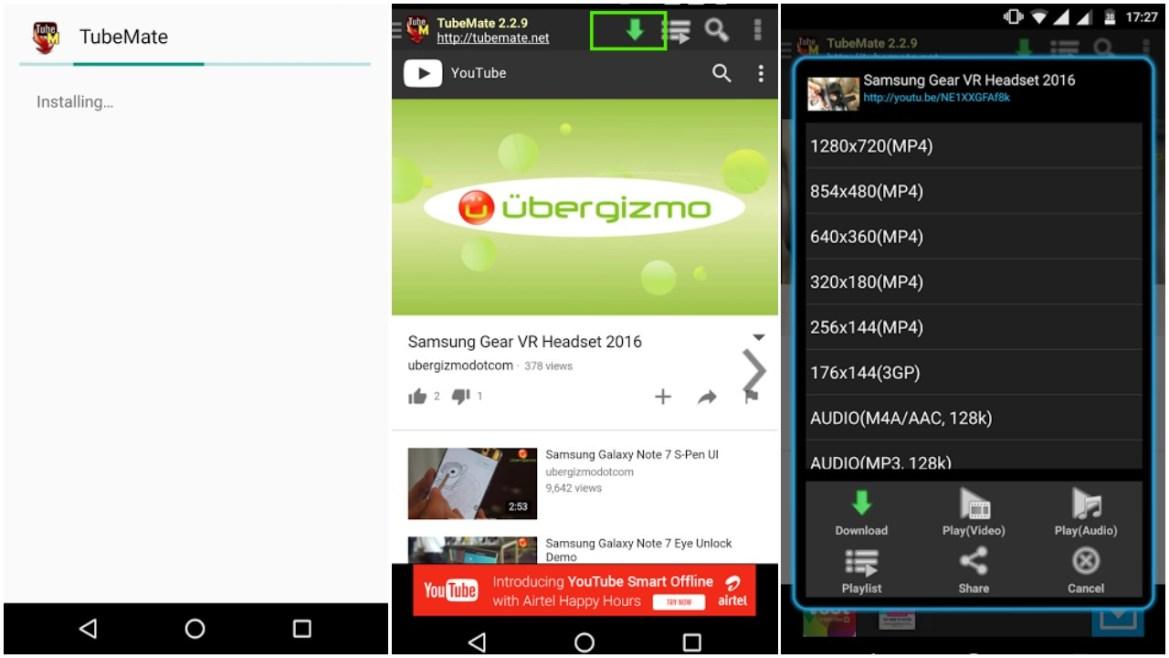 Cara Download Lagu / Video dari YouTube ke Android menggunakan TubeMate