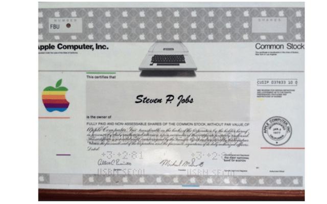 apple-stock-certificate