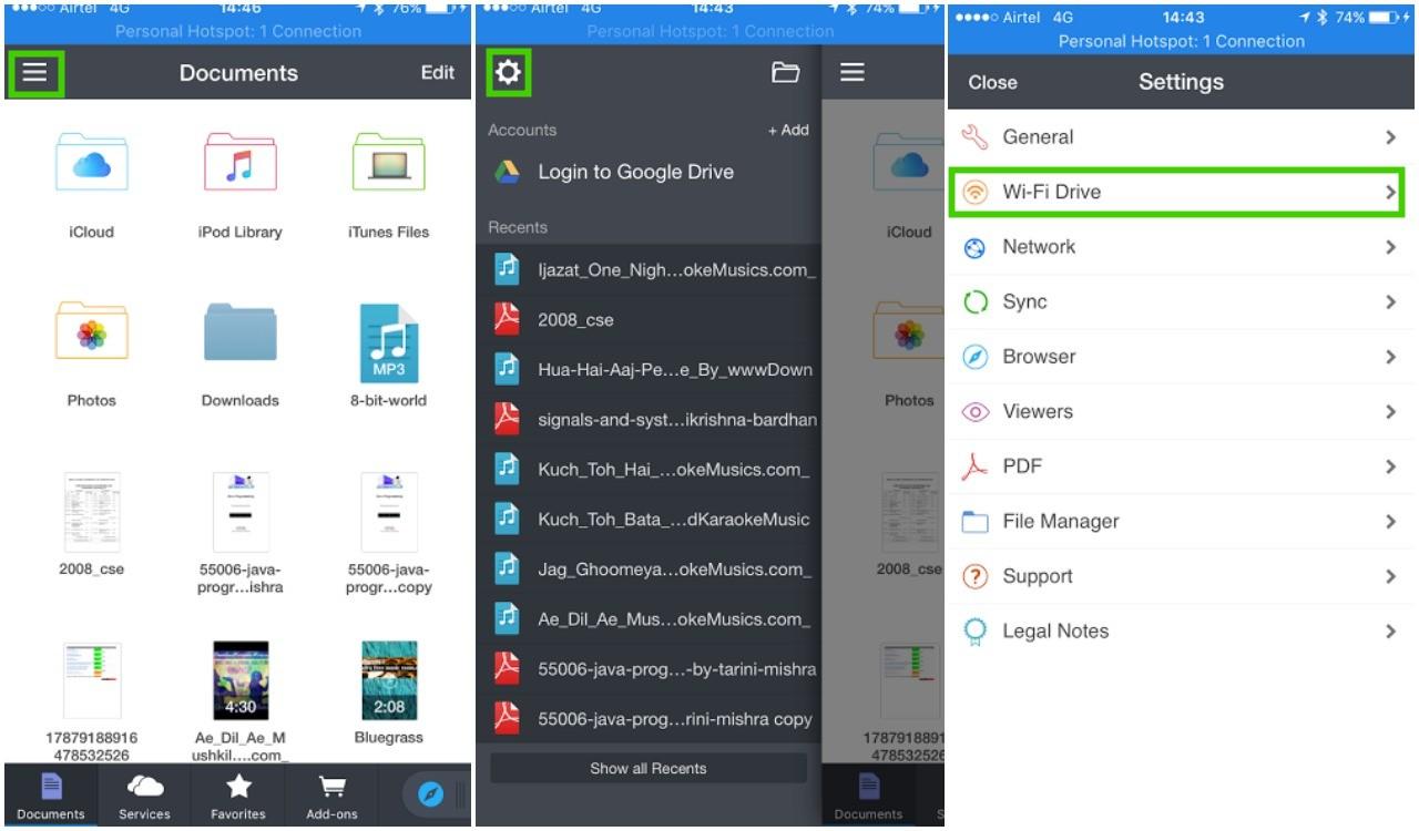 documents app wifi transfer