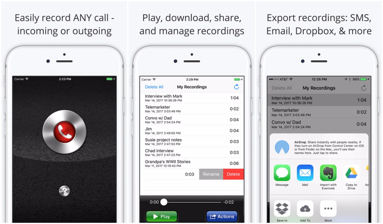 call recorder lite - how to record calls on iPhone