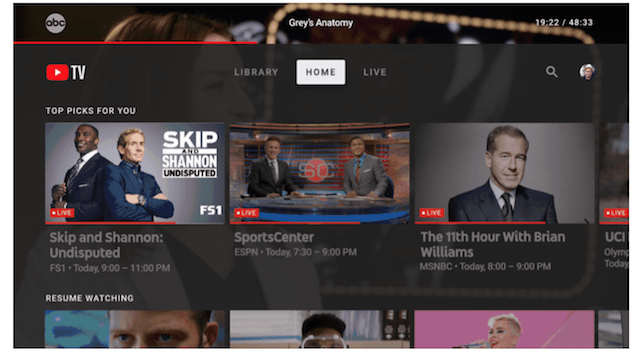 YouTube TV App For Android TV, Apple TV, And Xbox One Launched