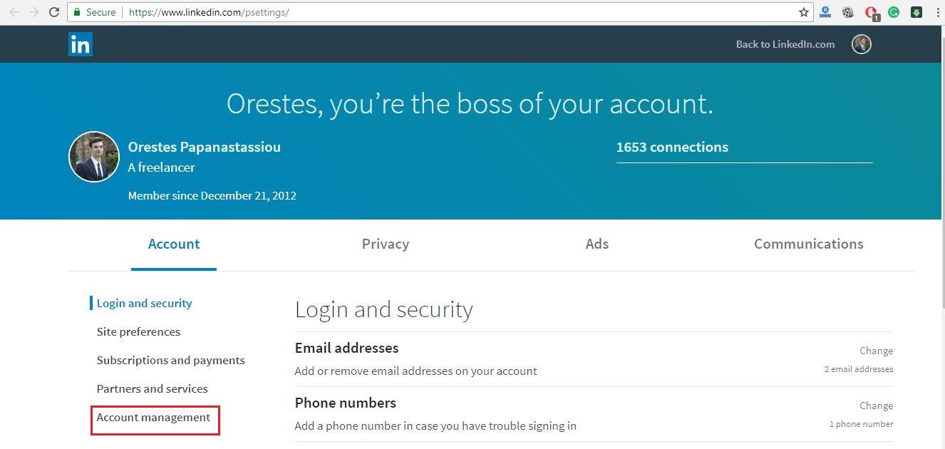 How To Delete Your LinkedIn Account  Ubergizmo