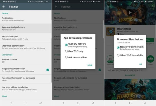 Google's Play Store Gets Network Download Options | Ubergizmo