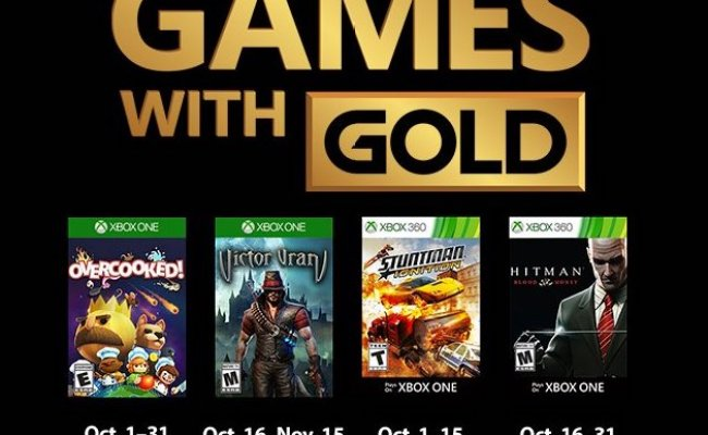 Xbox Free Games With Gold For October 2018 Confirmed