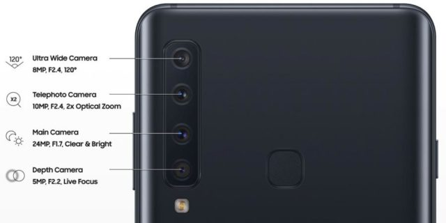 Il rendering dello smartphone Quad-Camera di Samsung è trapelato